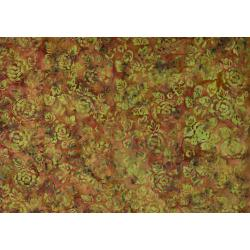 JB300-OR3B Malam Batiks VII - Large Peony - Orange Batik Fabric