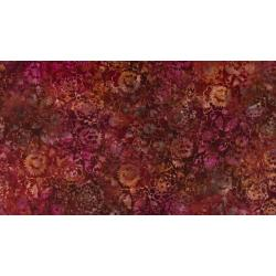 JB301-BU1B Malam Batiks VII - Mums - Burnt Orange Batik Fabric