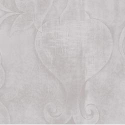 3417-005 Midnight Garden - Embossed - Pewter Fabric