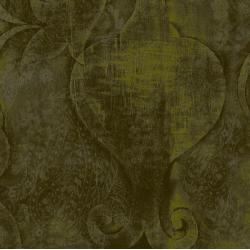 3417-006 Midnight Garden - Embossed - Khaki Fabric