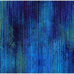 3419-001 Midnight Garden - Linear - Medium Blue Fabric