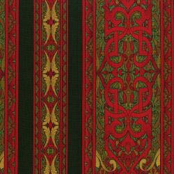 3208-003 Miyako - Border - Red Fabric