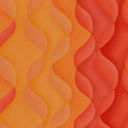 JB600-RO6 Playa - Dunes - Red Orange Fabric