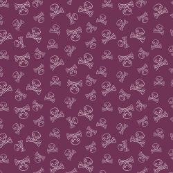 JG104-WI1 Kraken - Jolly Roger - Wine Fabric