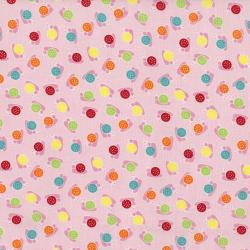 2630-001 Bugsy - Snails - Blush Fabric