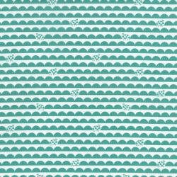 2631-001 Bugsy - Scallop Bug - Teal Fabric