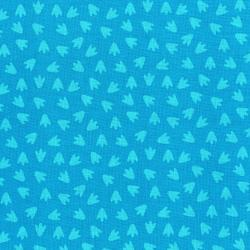 3132-001 Dino Daze - Footprints - Teal Fabric
