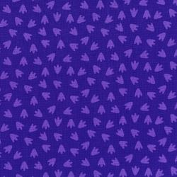 3132-002 Dino Daze - Footprints - Purple Fabric