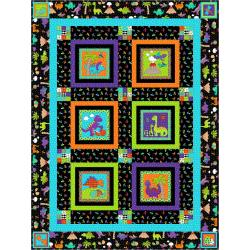 9653-426 Dino Daze - Dino Night Quilt Kit