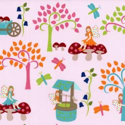 2815-003 Fairy Tales - Fairies - Pink Fabric