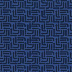 3406-001 Traffic Jam - Arrows - Blue Fabric