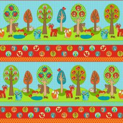 2206-001 Woodland Park - Woodland Border - Multi Fabric