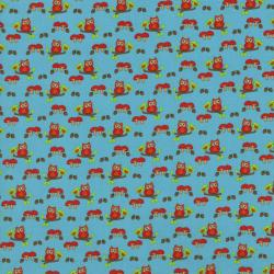 2209-001 Woodland Park - Owl -Teal Fabric