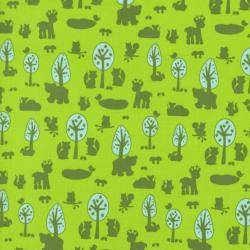 2210-003 Woodland Park - Deer & Friends - Green Fabric