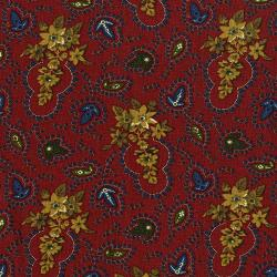 3429-001 Fall's Majesty - Foliage - Cardinal Fabric