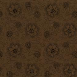 3001-001 Forget Me Not - Stream - Coffee Fabric