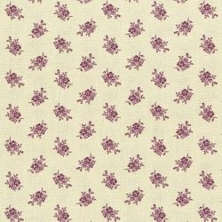 3004-001 Forget Me Not - Bouquet - Plum Fabric