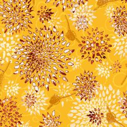 LT301-OR2 Pollinator - Allium - Orange Slice Fabric