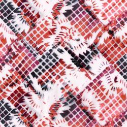 3065-003 Urban Artifacts - Fiesta Grid - Terra Rose Fabric