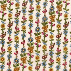 3246-001 Lori's Art Garden - Garden Floral Stripe - Cream Fabric