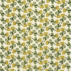 3247-001 Lori's Art Garden - Sweet Blossom - Cream Fabric