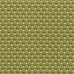 3248-003 Lori's Art Garden - Layered Flowers - Green Fabric