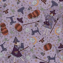 3396-001 Little Witchy Wonderland - Everything Witchy - Lavender Fabric