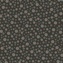 3326-001 Peacock Manor - Hexagon Meadow - Earth Fabric