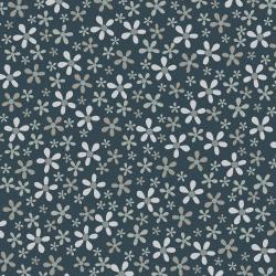3327-002 Peacock Manor - Flower Beds - Lapis Fabric