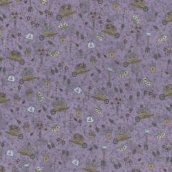 2000-003 Pocketful Of Daisies - Garden Tools - Dusty Leaves Fabric