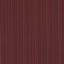 2334-002 Winter Village - Stripe - Red Fabric