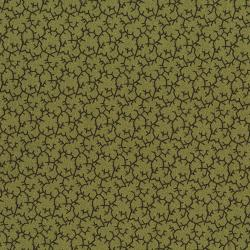 2772-001 Christmas Remembered - Antlers - Moss Green Fabric