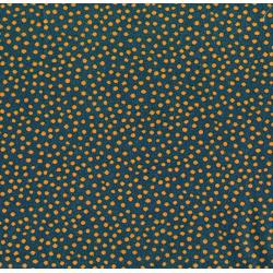 2843-002 Garden Collage - Sloppy Dots - Navy Fabric