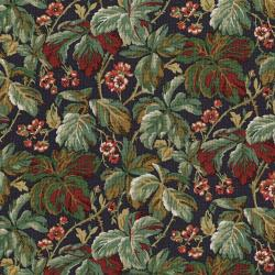 3051-002 River Song - Leaf Cluster - Eggplant Fabric