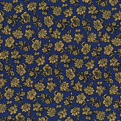 3057-001 River Song - Shadow Flower - Navy Fabric