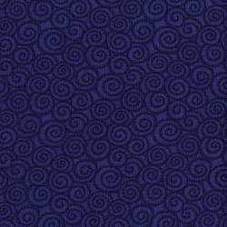 3059-002 River Song - Swirl - Navy Fabric