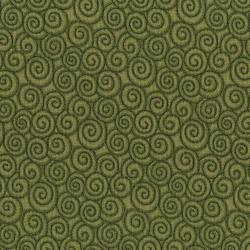 3059-003 River Song - Swirl - Green Fabric