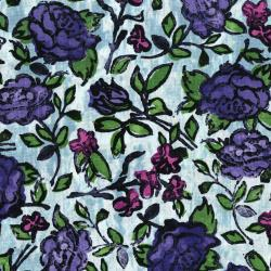 3342-002 Florabunda! - Blowsy Rose - Bluette Fabric