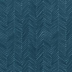 3347-001 Florabunda! - Zig Zaggle - Faded Denim Fabric