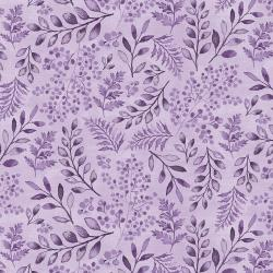 PS103-PU4 Lilac & Sage - Leaves - Purple Fabric