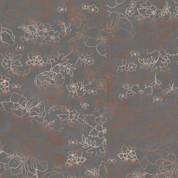 PS104-GY3M Lilac & Sage - Toile - Gray Copper Pearl Metallic Fabric