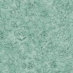 PS104-MI7 Lilac & Sage - Toile - Mint Fabric