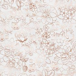 PS104-SI4M Lilac & Sage - Toile - Silver Copper Pearl Metallic Fabric
