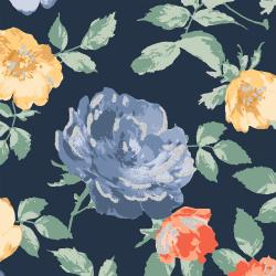 PS200-MI2M Summer Rose - Lorraine - Midnight Metallic Fabric