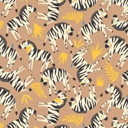RJ1301-LA1 Adventure - Finding Zebras - Larch Fabric