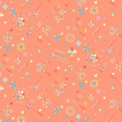 RJ1304-FL2 Adventure - Magical Flowers - Flamingo Fabric
