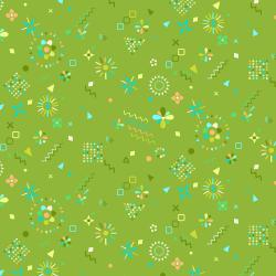 RJ1304-LE3 Adventure - Magical Flowers - Leaf Fabric