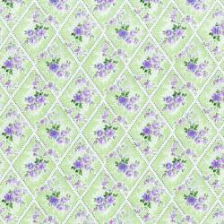 3147-001 Afternoon In The Attic - Miniature Bouquet - Lavender Fabric