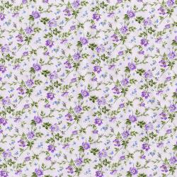 3268-001 Afternoon In The Attic - Dainty Blooms - Lavender Flannel Fabric