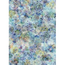RJ806-AQ1D Arcadia - Crochet Blossoms - Aquamarine Digiprint Fabric
